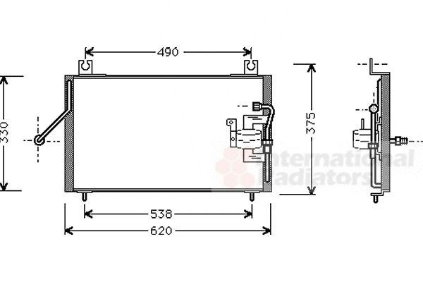 Condenseur, climatisation - VAN WEZEL - 83005003