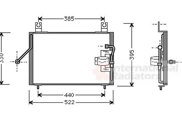 Condenseur, climatisation - VAN WEZEL - 83005004