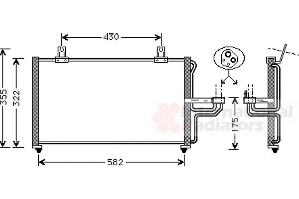 Condenseur, climatisation - VAN WEZEL - 83005005
