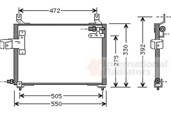 Condenseur, climatisation - VAN WEZEL - 83005006