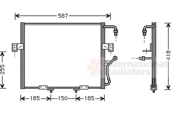 Condenseur, climatisation - VAN WEZEL - 83005011