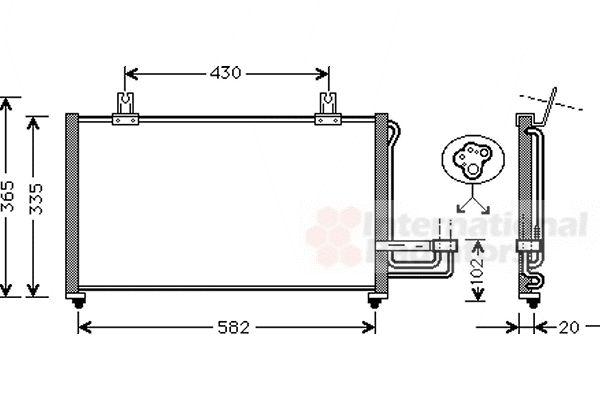 Condenseur, climatisation - VAN WEZEL - 83005013