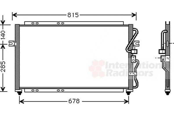 Condenseur, climatisation - VAN WEZEL - 83005014