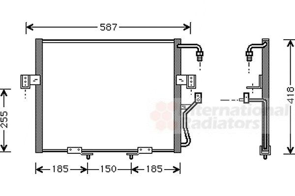Condenseur, climatisation - VAN WEZEL - 83005015