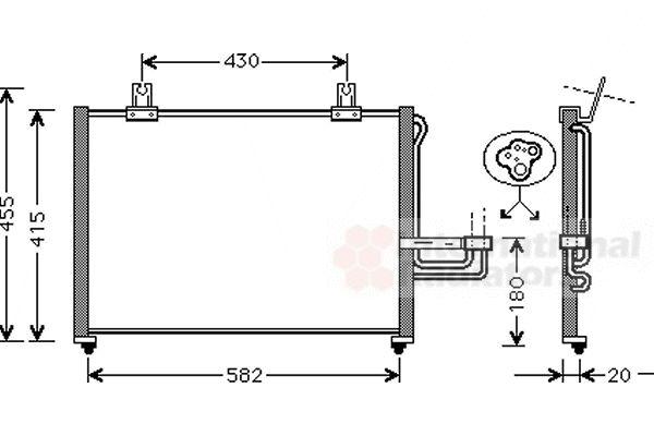 Condenseur, climatisation - VAN WEZEL - 83005026