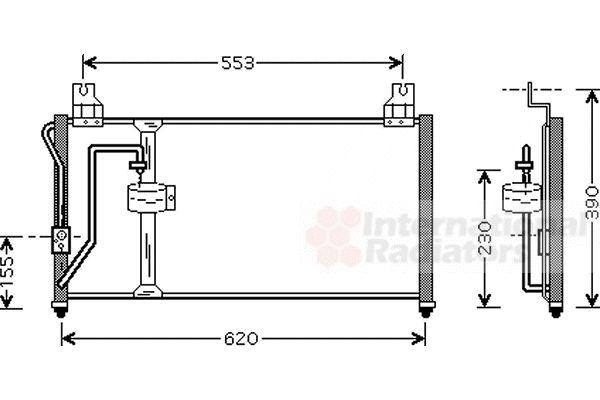 Condenseur, climatisation - VAN WEZEL - 83005027