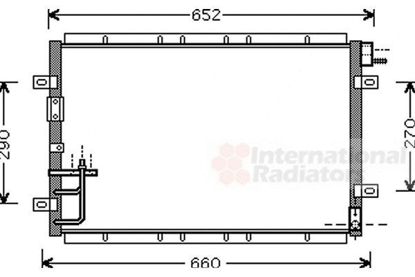 Condenseur, climatisation - VAN WEZEL - 83005030