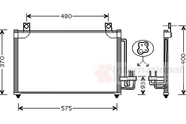 Condenseur, climatisation - VAN WEZEL - 83005031