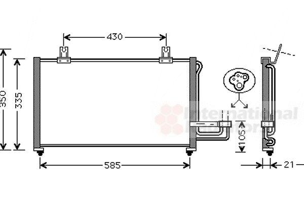 Condenseur, climatisation - VAN WEZEL - 83005032