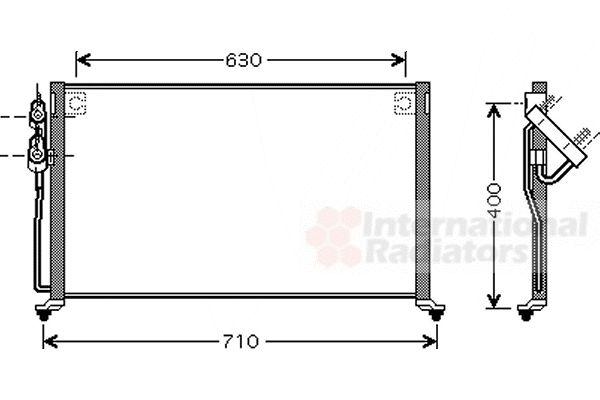 Condenseur, climatisation - VAN WEZEL - 83005060