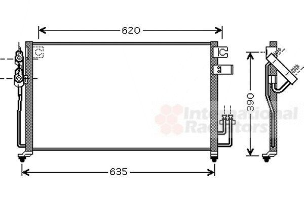 Condenseur, climatisation - VAN WEZEL - 83005061