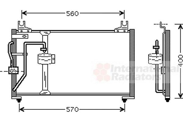 Condenseur, climatisation - VAN WEZEL - 83005062