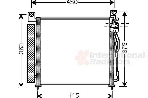 Condenseur, climatisation - VAN WEZEL - 83005065