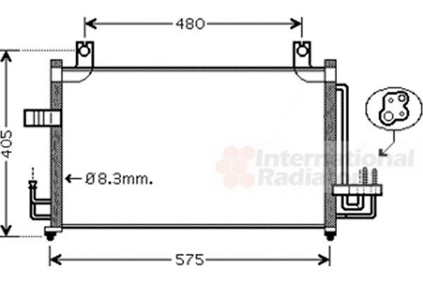 Condenseur, climatisation - VAN WEZEL - 83005068
