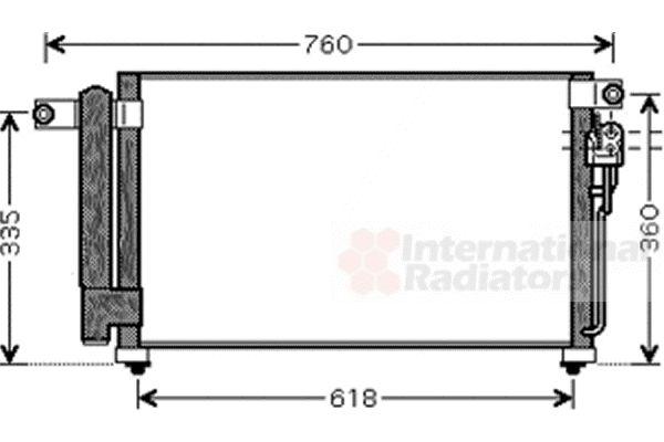 Condenseur, climatisation - VAN WEZEL - 83005081