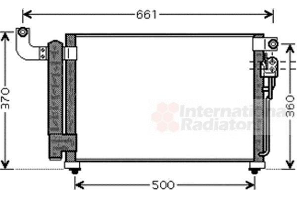 Condenseur, climatisation - VAN WEZEL - 83005082