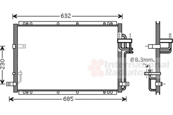 Condenseur, climatisation - VAN WEZEL - 83005085