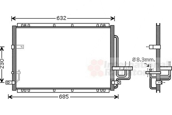 Condenseur, climatisation - VAN WEZEL - 83005092