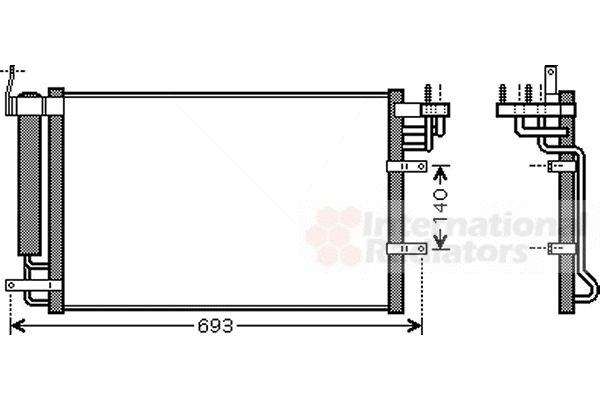 Condenseur, climatisation - VAN WEZEL - 83005093