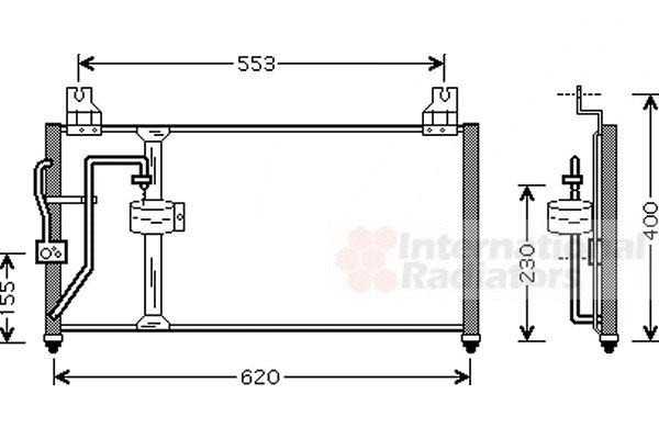 Condenseur, climatisation - VAN WEZEL - 83005094