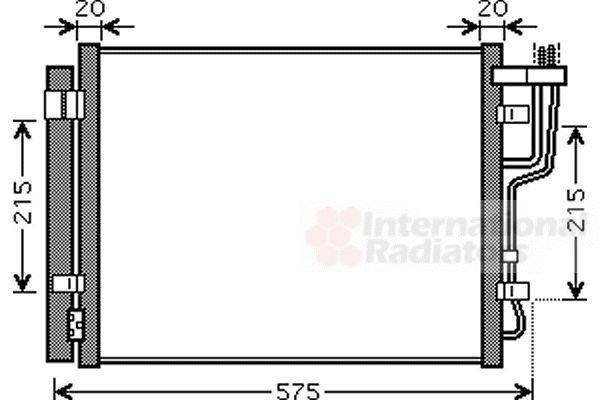 Condenseur, climatisation - VAN WEZEL - 83005100