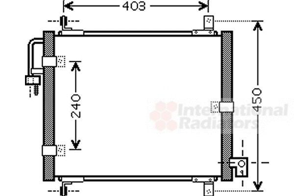 Condenseur, climatisation - VAN WEZEL - 83005101