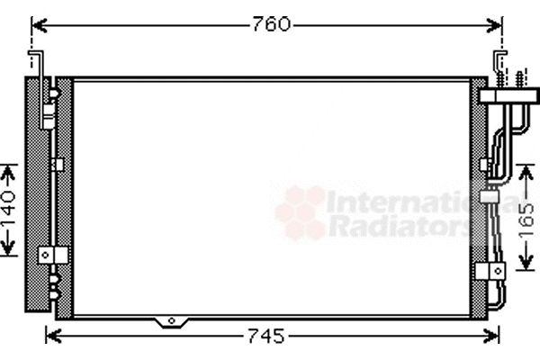 Condenseur, climatisation - VAN WEZEL - 83005104