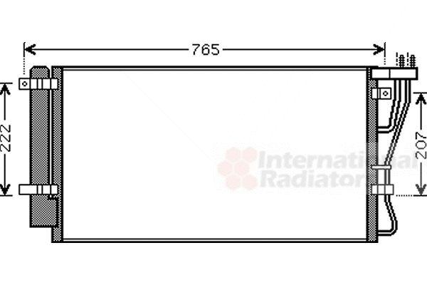 Condenseur, climatisation - VAN WEZEL - 83005105