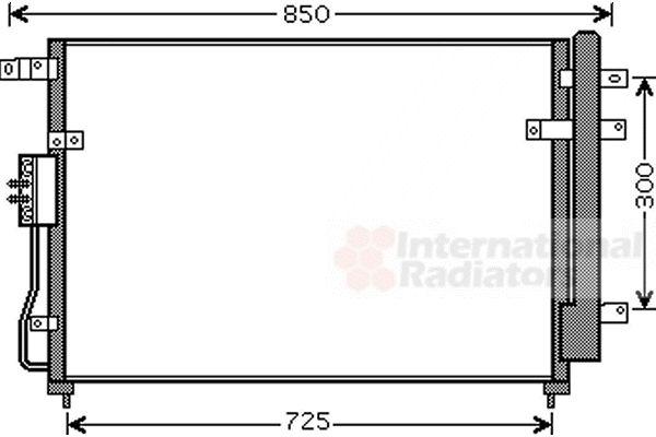 Condenseur, climatisation - VAN WEZEL - 83005111