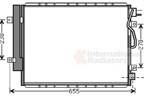 Condenseur, climatisation - VAN WEZEL - 83005123
