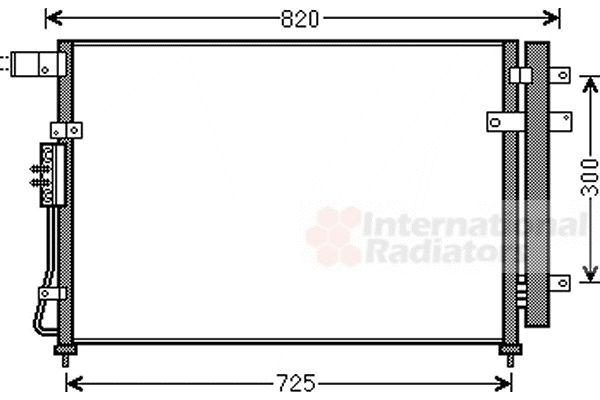 Condenseur, climatisation - VAN WEZEL - 83005138
