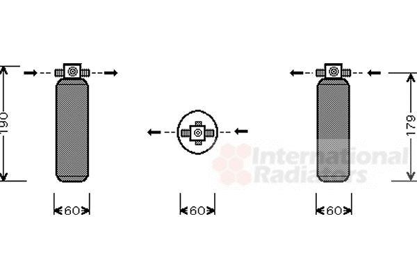 Filtre déshydratant, climatisation - VAN WEZEL - 8300D028