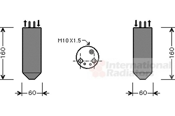 Filtre déshydratant, climatisation - VWA - 88VWA8300D041