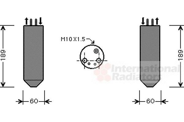 Filtre déshydratant, climatisation - VAN WEZEL - 8300D042