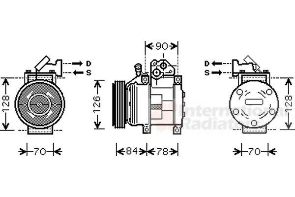Compresseur, climatisation - VAN WEZEL - 8300K052