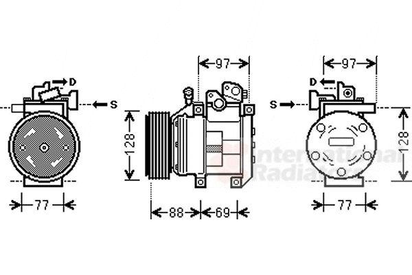 Compresseur, climatisation - VAN WEZEL - 8300K117