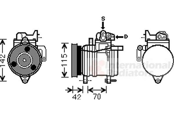 Compresseur, climatisation - VAN WEZEL - 8300K121