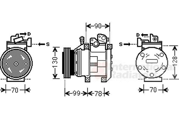 Compresseur, climatisation - VAN WEZEL - 8300K130
