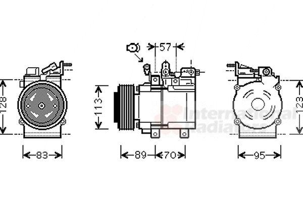 Compresseur, climatisation - VAN WEZEL - 8300K137