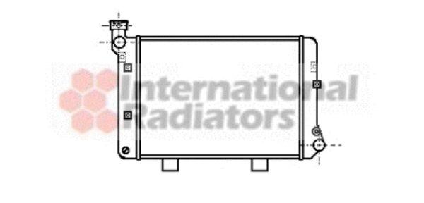 Radiateur, refroidissement du moteur - VAN WEZEL - 26002006
