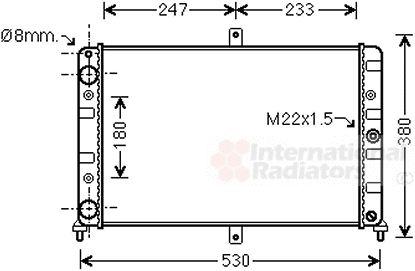Radiateur, refroidissement du moteur - VAN WEZEL - 26002008