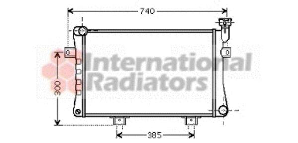 Radiateur, refroidissement du moteur - VAN WEZEL - 26002015