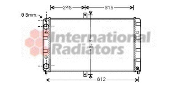 Radiateur, refroidissement du moteur - VAN WEZEL - 26002016