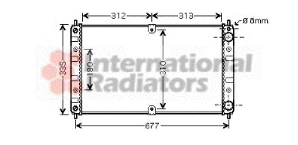 Radiateur, refroidissement du moteur - VAN WEZEL - 26002017