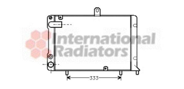 Radiateur, refroidissement du moteur - VAN WEZEL - 73002002