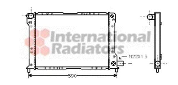 Radiateur, refroidissement du moteur - VAN WEZEL - 73002012
