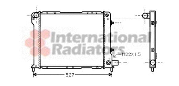 Radiateur, refroidissement du moteur - VAN WEZEL - 73002015