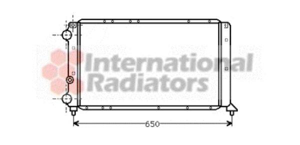 Radiateur, refroidissement du moteur - VAN WEZEL - 73002017