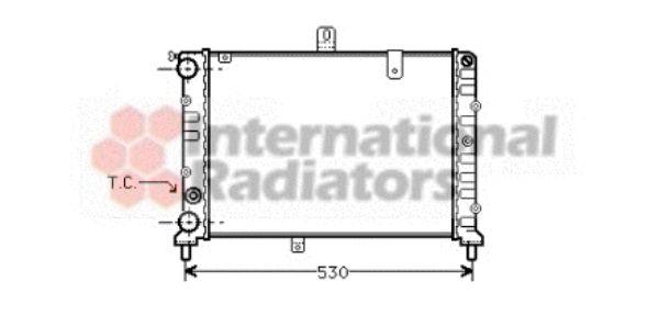 Radiateur, refroidissement du moteur - VAN WEZEL - 73002018