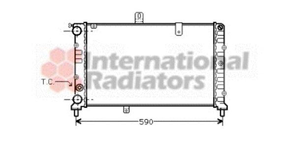 Radiateur, refroidissement du moteur - VAN WEZEL - 73002027